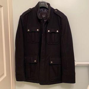 Hugo Boss Wool Military Style Jacket